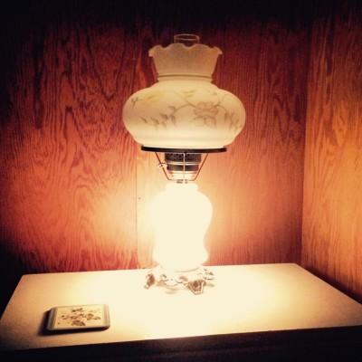 Bluebird lamplight