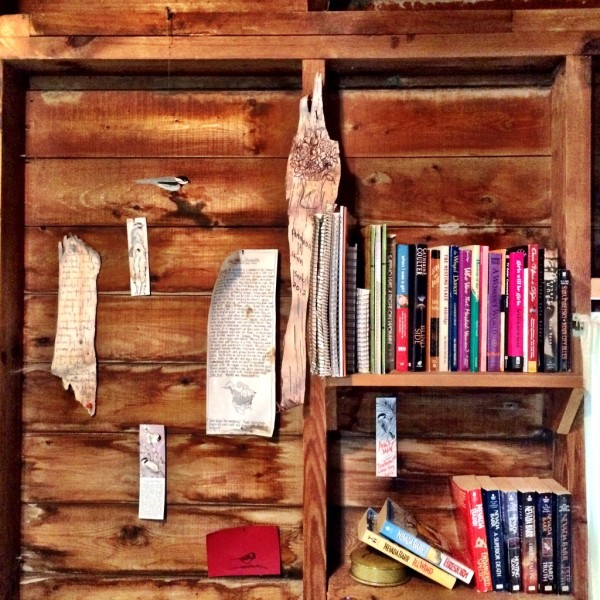 Each cabin is stocked with books and games